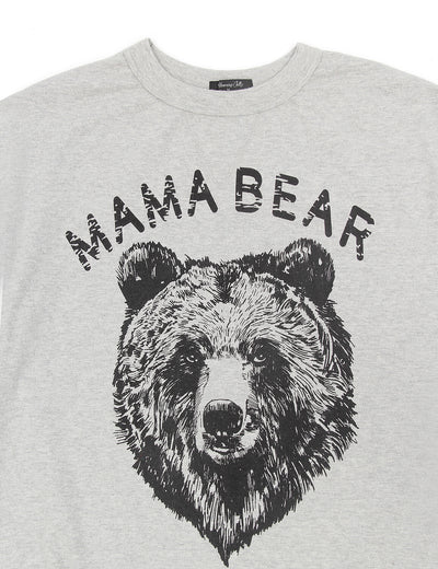 【Only 98 Left】Mama Bear Print Drop Shoulder Sweatshirt
