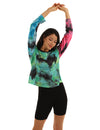 Individualized Tie Dye Print Sporty T-Shirt - Blooming Jelly