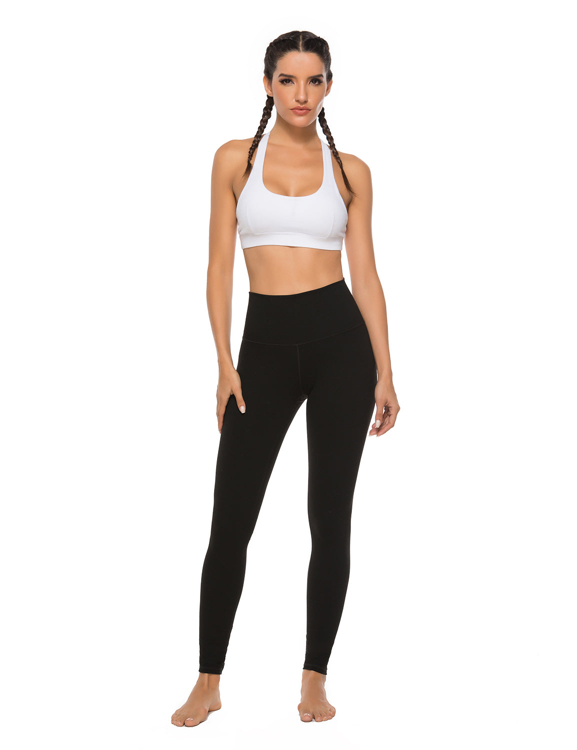 High Waist Hidden Pocket Yoga Leggings - Blooming Jelly