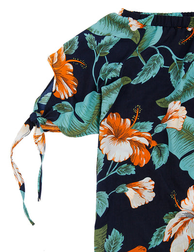Off the Shoulder Sweet Floral Top