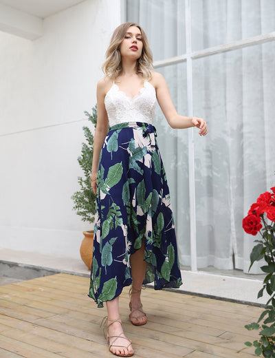 Blooming Jelly_Stunning Summer Asymmetrical Floral Maxi Dress_Leaves Print_146046_21_Glamorous Summer Outdoor_Dress_Maxi Dress