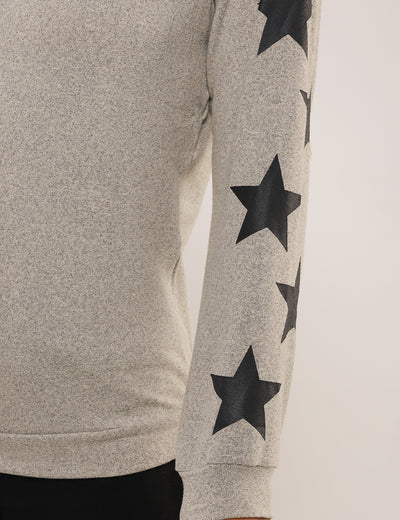Blooming Jelly_Dreamy Stars Sleeves Pullover Sweatshirt_Black Stars Print_293002_07_Women Casual  Long Sleeves_Tops_Sweatshirt