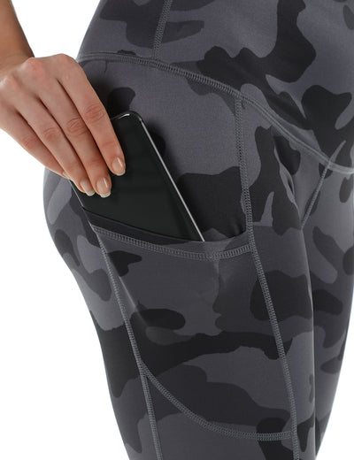 Cool Camo High Waist Side Pockets Leggings - Blooming Jelly