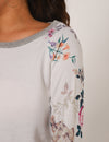 Romantic Garden Floral Sleeves Loose Sweatshirt - Blooming Jelly
