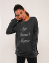 Letter Print Pouch Pocket Pullover Sweatshirt - Blooming Jelly