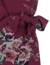 Blooming Jelly Chic Women Floral Print Long Wrap Dress_142358_Maroon_Details 5