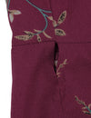 Blooming Jelly Chic Women Floral Print Long Wrap Dress_142358_Maroon_Details 6
