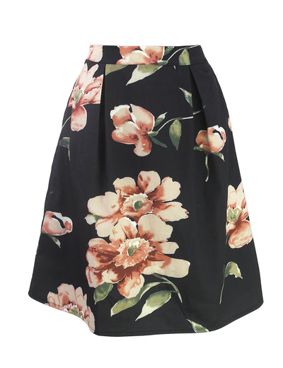 Button Up A Line Midi Skirt