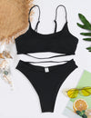 Sexy Beauty High Cut Bandeau Brazilian Bikini Set