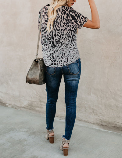 City Beauty Animal Print Loose T-Shirt