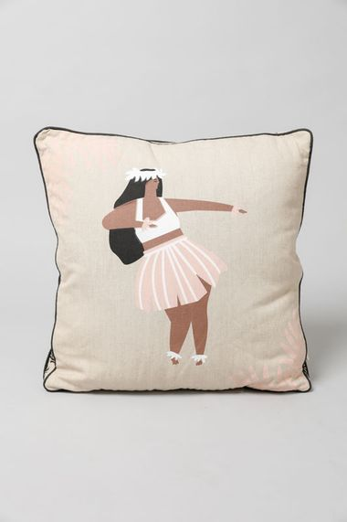Hula Girl Reversible Cushion