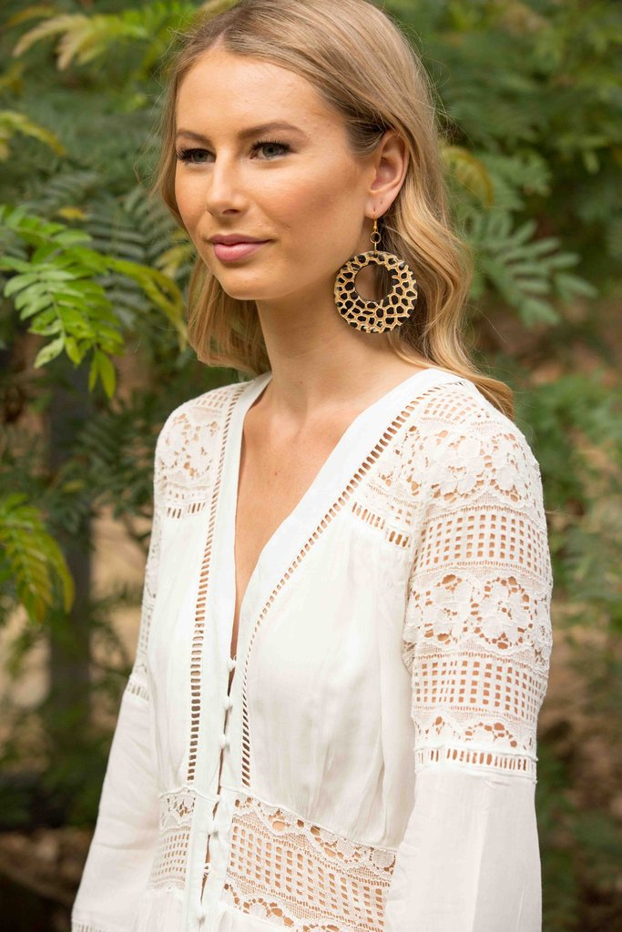 Cheetah Earring - Natural