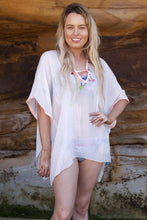 Load image into Gallery viewer, Beachwear Kaftan with pom-pom detailing