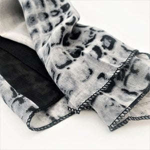 Croc Print Cotton Scarf