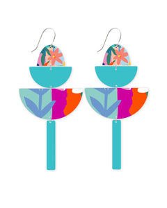 Bright Leah Big Statement Drop Earrings