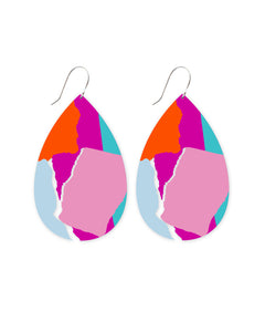 Bright Leah Big Tear Drop Earrings