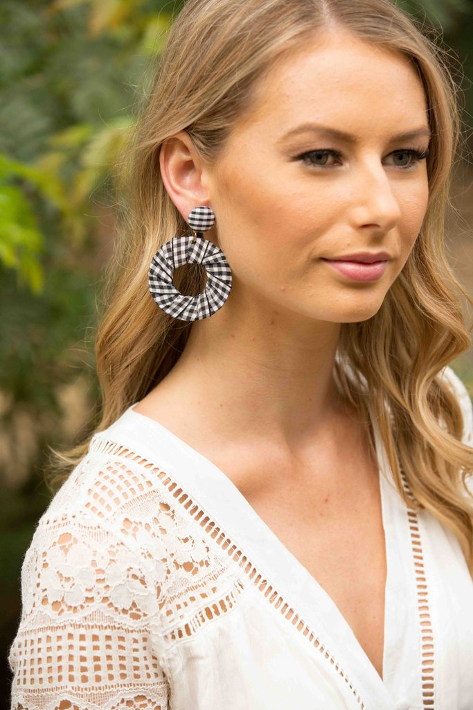 Holly Earring - Gingham