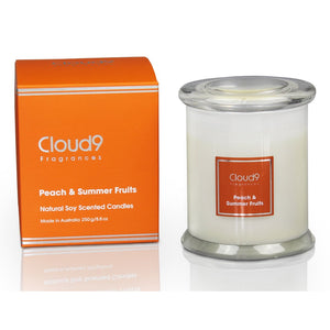 Peach & Summer Fruits Scented Candle