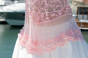 Lacey Frill Top - Light Pink