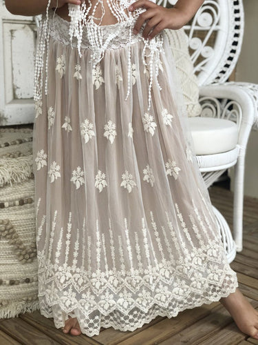 Violet Lace Skirt - Long