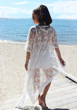 Load image into Gallery viewer, Sunset Lace Duster Kimono