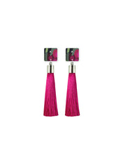 Load image into Gallery viewer, Bloom Kimmy Square Tassel Stud Earrings