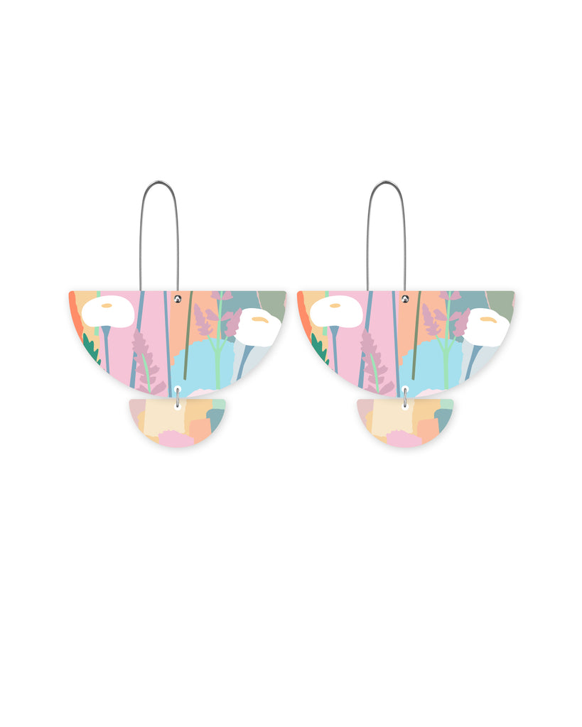 Pastel Leah Statement Long Drop Earrings