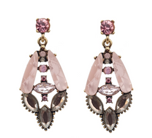 Load image into Gallery viewer, Little Pink, Little Bling Earring