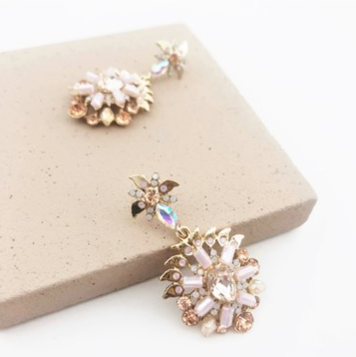 Jewelled Petalas Stud Earrings