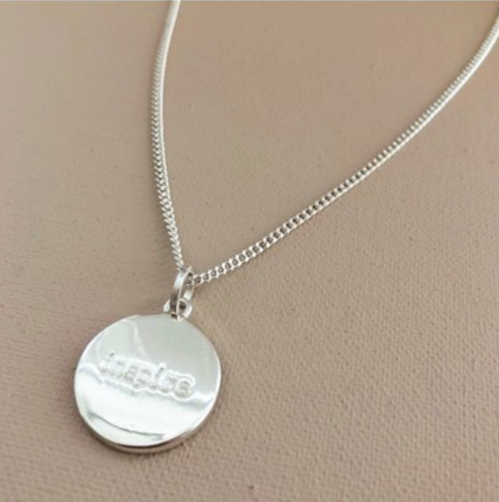 Inspire & Believe Disc Pendant Mid-Length Necklace