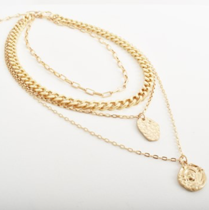 Layered Helena Coin Necklace