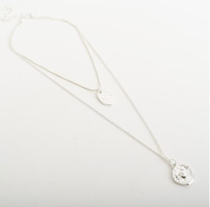 Augusta Short Coin Layered Necklace