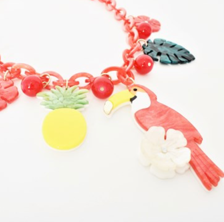 Jungle Life Resin Necklace