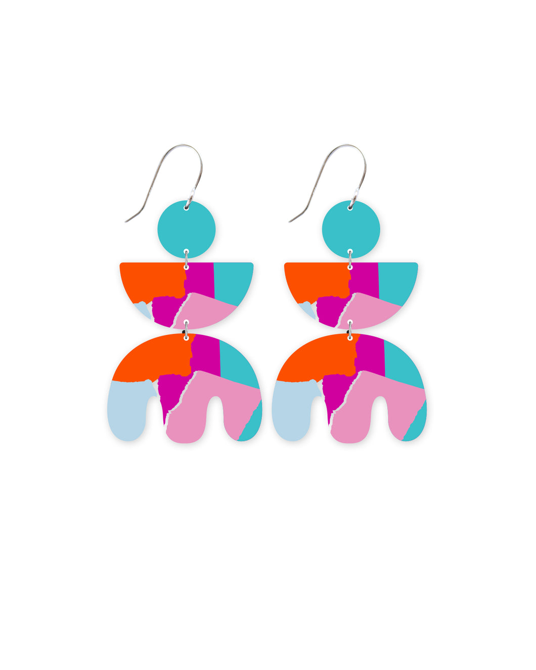 Bright Leah Triple Shape Drop Earrings