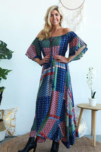 Load image into Gallery viewer, Blue Lagoon Strapless Maxi Dress