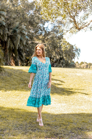 Valetta Bell Sleeve Dress