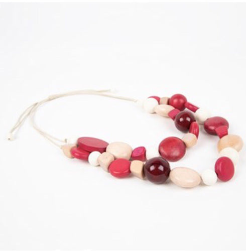 Timber Resin Bead Cord Back Necklace