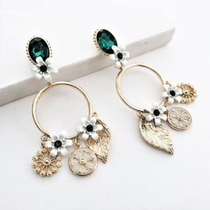 Jewel & Garden Charms Ring Drop Earrings