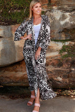 Load image into Gallery viewer, Grey Leopard Rayon Cape