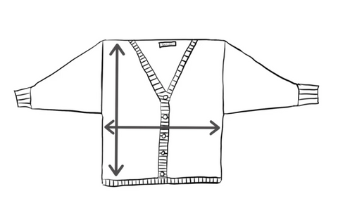 Cardigan size guide