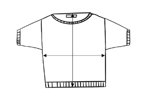 Cotton tee size guide
