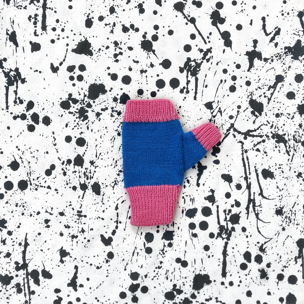 Bubble Gum Fingerless Mittens