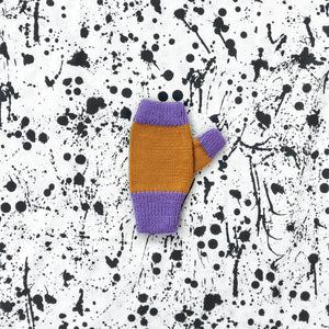 Violet Crumble Fingerless Mittens