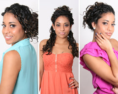 3 Quick Curly Hair Updo's