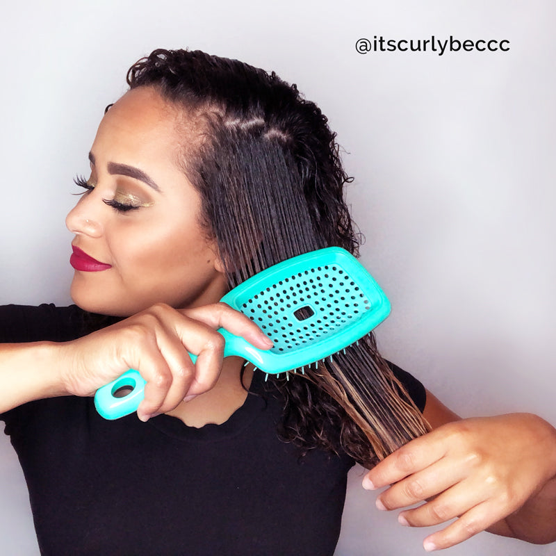 "Flexy Brush - For Detangling and ""Curl Clumping"""