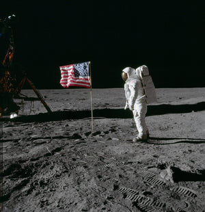 Aldrin US Flag - Apollo 11