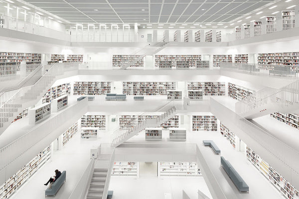 Stuttgart Library with Woman
