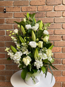 Large White Ceramic Arrangement.