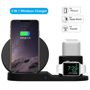 Qi Wireless Charger Fast Charging for Apple Devices
