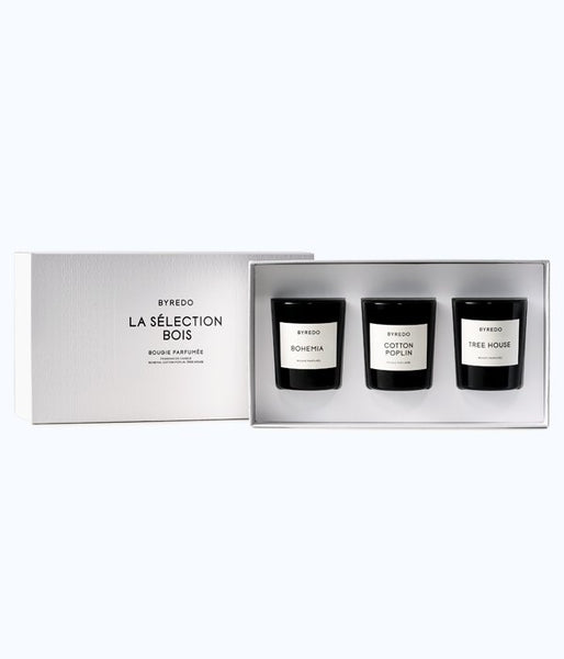 BYREDO La Sélection bois *set of 3 candles